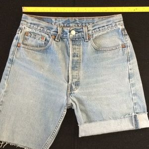 Vintage 80-90's Levi 501 cut off shorts. USA made